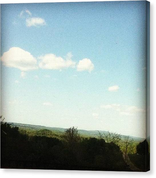 Driving Canvas Print - #shadow #mountain #driving #parkway by Amber Campanaro