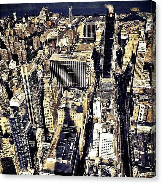 Skyscrapers Canvas Print - Shadow Of The Empire State Building - New York City by Vivienne Gucwa
