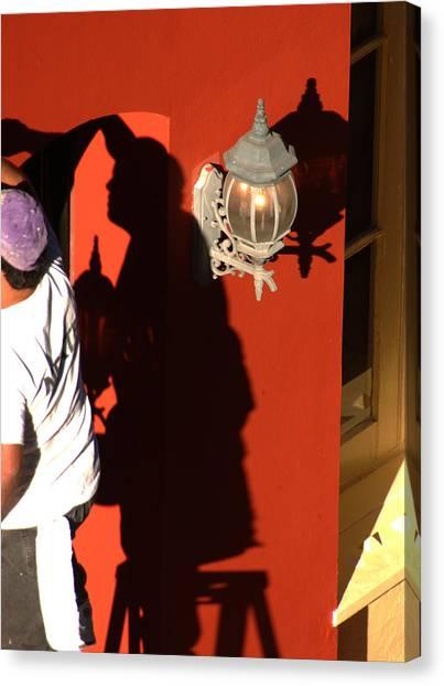 Shadow Painter Canvas Print