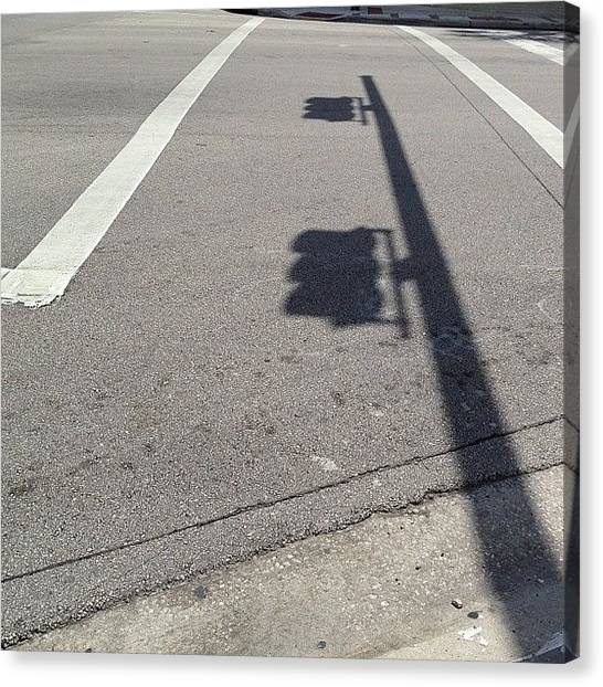 Om Canvas Print - #shadow #shadows #traffic #light #sunny by Artist Mind