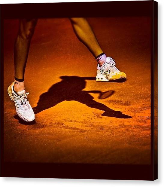 Tennis Canvas Print - Shadow Tennis by Alexandre Stopnicki