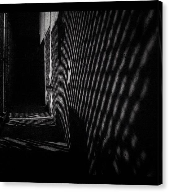 Philadelphia Canvas Print - #shadows #light #texture #alley #black by Elizabeth DeMartino