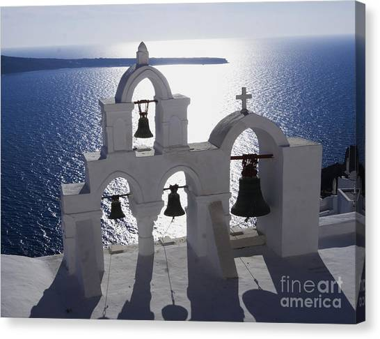 Shadows Of Santorini Canvas Print