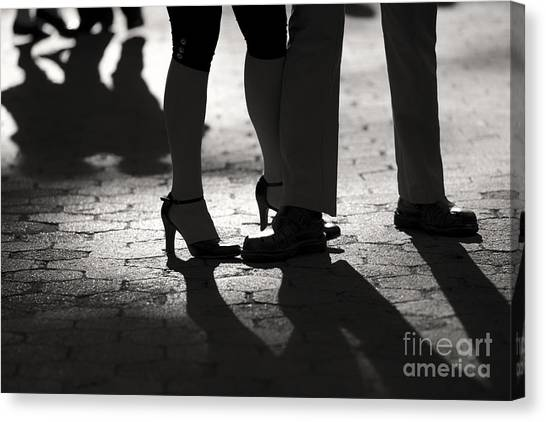 Shadows Of Tango Canvas Print