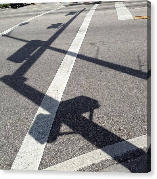 Om Canvas Print - #shadows #shadow #sunny #florida #miami by Artist Mind
