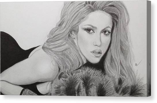Shakira Canvas Print - Shakira by Andrew Nelson