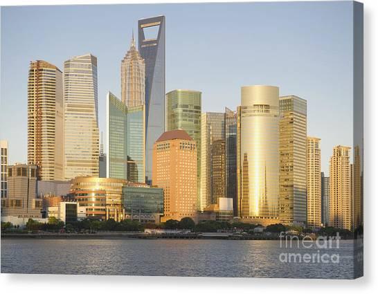 Shanghai Skyline Canvas Print - Shanghai City Skyline by Dave & Les Jacobs