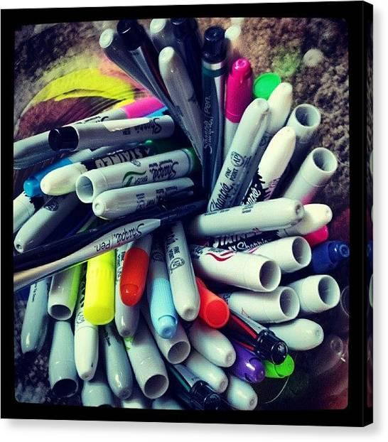 Iphone Canvas Print - #sharpie  #art #iphone #sharpiesquad2012 by Mandy Shupp