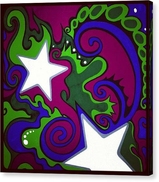 Stars Canvas Print - #sharpie Art #sharpiesquad2012 by Mandy Shupp
