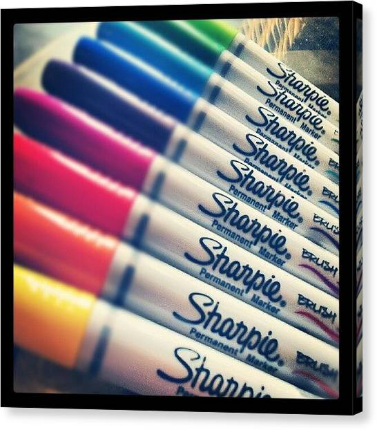 Colorful Canvas Print - #sharpie Thanks For The Goodies ! by Mandy Shupp