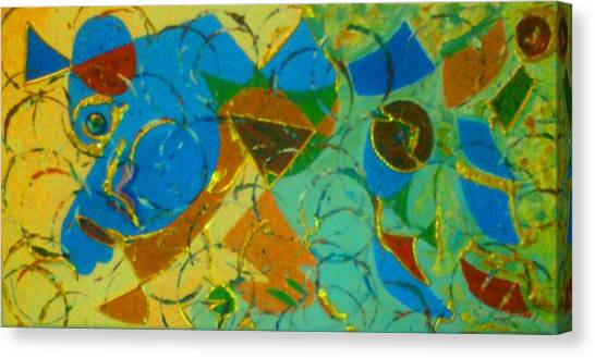 Canvas Print featuring the painting Shattered Race by Ray Khalife