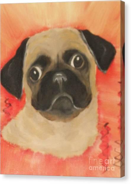 She Has Her Eye On You Canvas Print by Rachel Carmichael