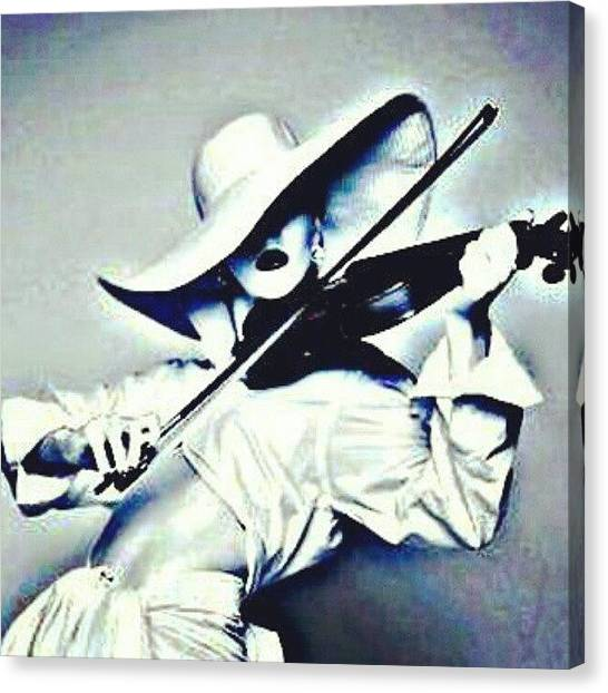Violins Canvas Print - She Is Killing It! #blackandwhite by Mary Carter