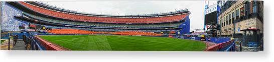 Citi Field Canvas Print - Shea Stadium Pano by Dennis Clark