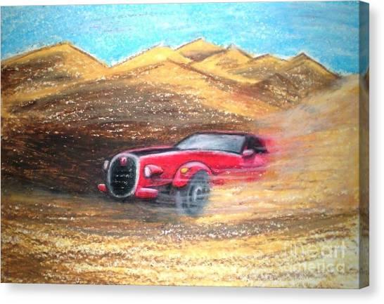 Sheikhs Dirt Racer Canvas Print by C Ballal