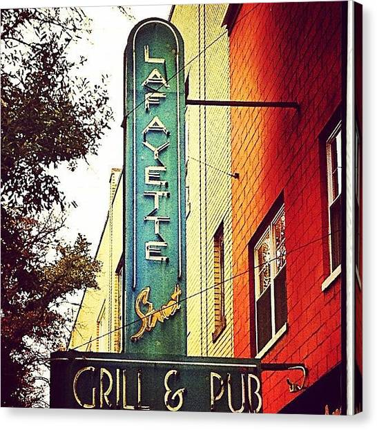 Grills Canvas Print - #shelby#northcarolina#pub#grill by Stephanie Thomas