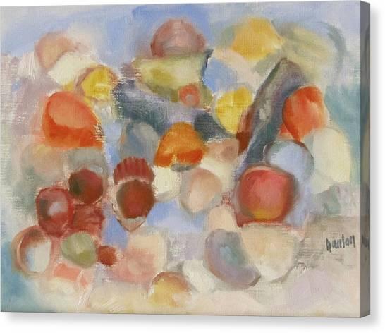 Shell Impresion II Canvas Print by Susan Hanlon