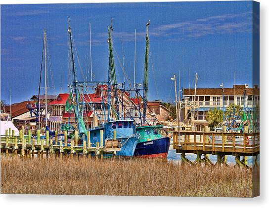 Shem Creek Shrimpers Canvas Print