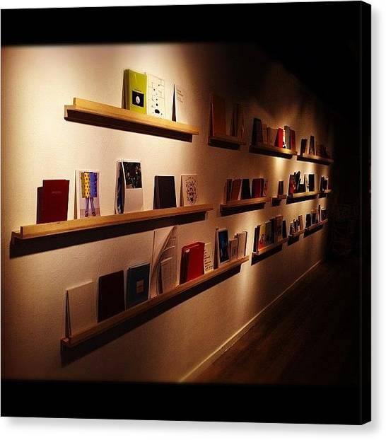 Libraries Canvas Print - #shenkar #telaviv #books #ibooks by Alon Ben Levy