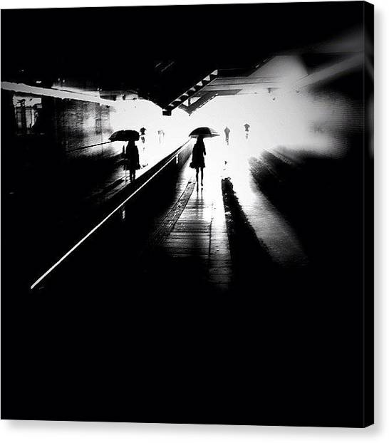 Igersoftheday Canvas Print - She's Into Rain by Robbert Ter Weijden
