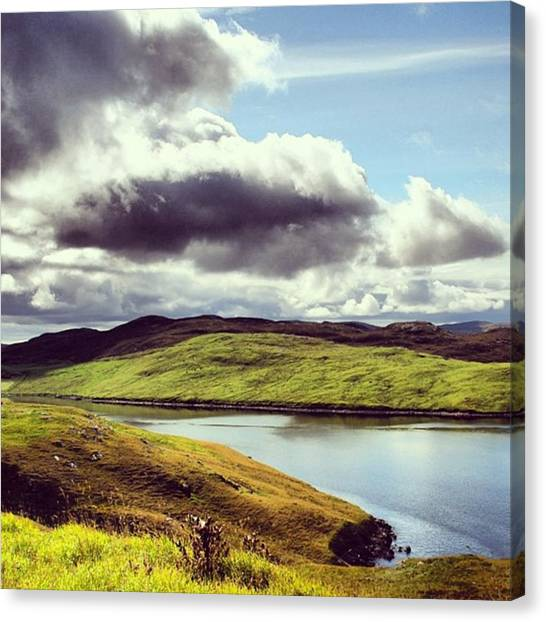 Water Canvas Print - Shetland Island by Luisa Azzolini