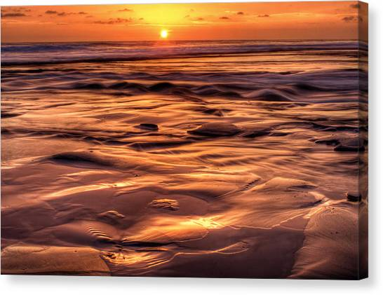 Canvas Print - Shifting Sand And Shoreline by Donna Pagakis