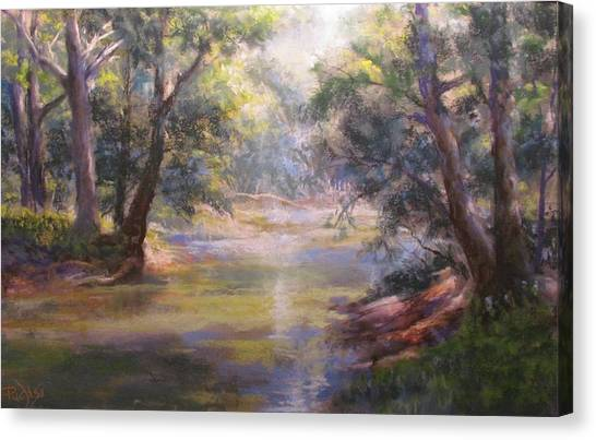 Shimmering Stream Canvas Print