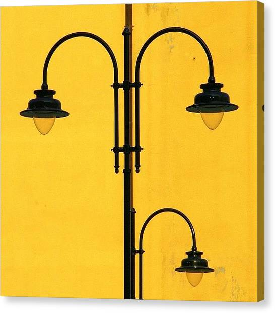 Shine On.. #italy #lamppost Canvas Print by A Rey