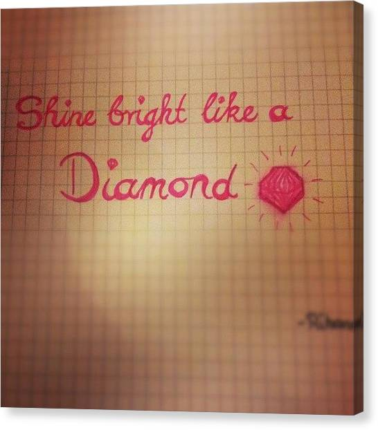 Rihanna Canvas Print - #shinebrightlikeadiamond #shine #bright by Alexandra Gerakin