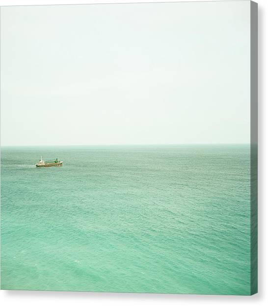 Capital Ship Canvas Print - Ship In Sea by Yasushi Okano