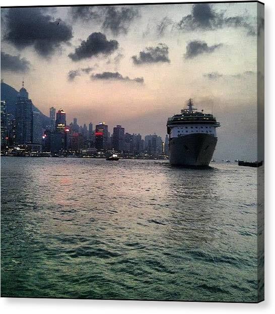 Om Canvas Print - Ship Me? #boat #ship #tst #hongkong by Om Bhatia
