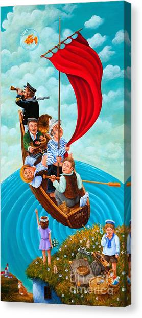 Ship Of Fools Canvas Print by Igor Postash