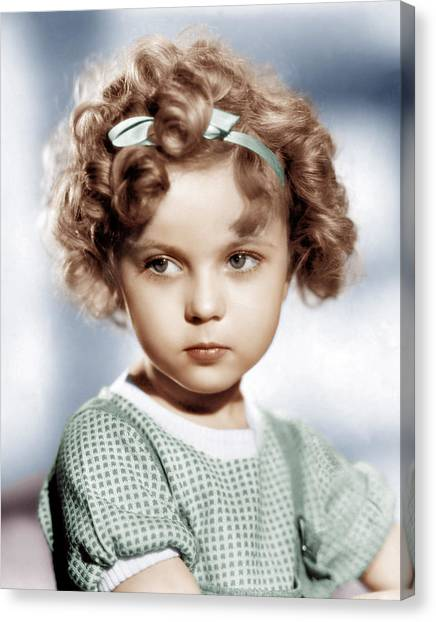 Temple Canvas Print - Shirley Temple, Ca. 1934 by Everett