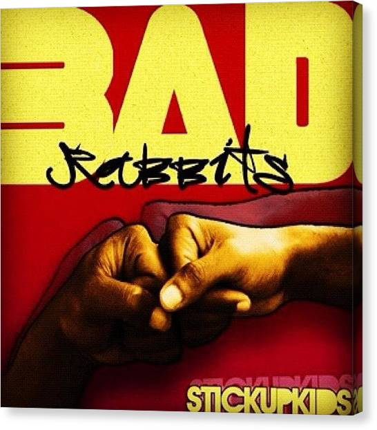 Punk Canvas Print - 'shit You Should Be Listening To: Bad by Prepster Punk