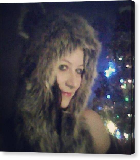 Wolves Canvas Print - @shit_toboggan You Like This Hat by Michelle Knapp