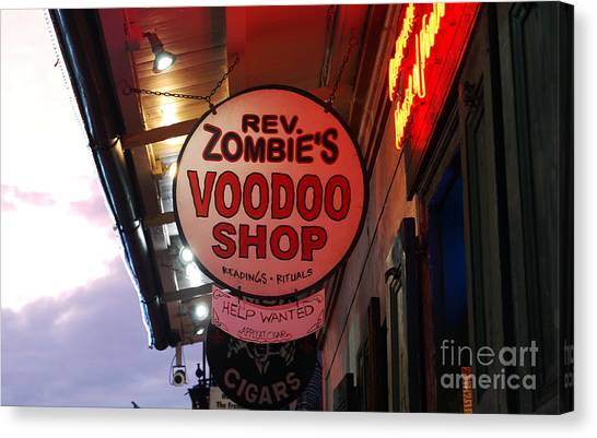 Rev Zombies Canvas Print - Shop Signs French Quarter New Orleans by Shawn O'Brien