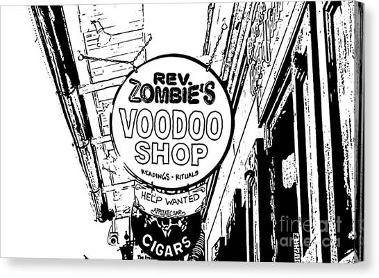 Rev Zombies Canvas Print - Shop Signs French Quarter New Orleans Stamp Digital Art by Shawn O'Brien