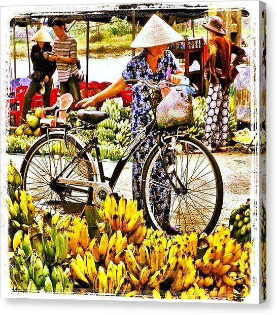 Vietnamese Canvas Print - Shopping In Hoi An. #hoian #vietnam by Richard Randall