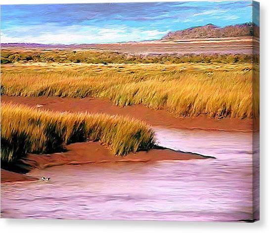 Shoreline Painting Wolfville Harbour Canvas Print
