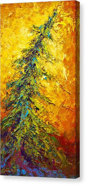 Pine Trees Canvas Print - Shoreline Spirit II by Marion Rose