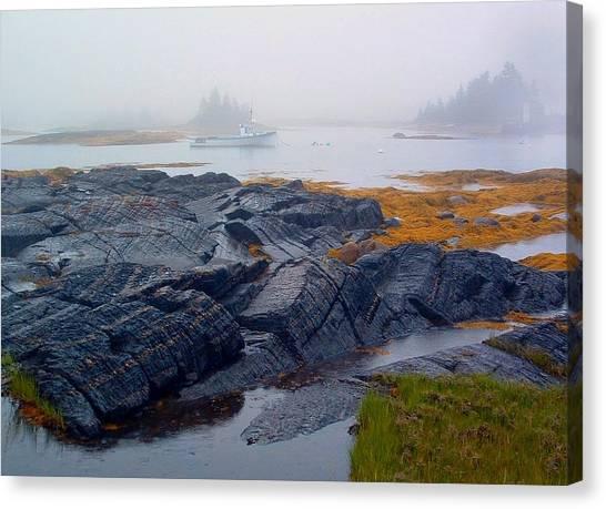 Shorelines Bluerocks Lunenburg Nova Scotia Canvas Print