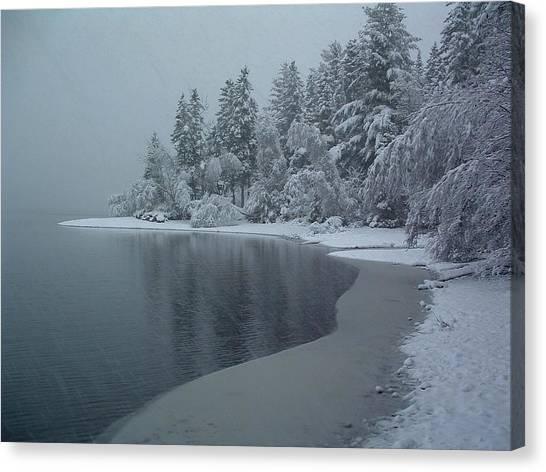 Shorelines Lumsden Pond Reduced Visibility Canvas Print