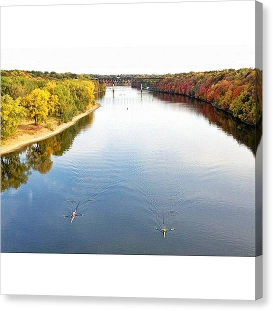 Mississippi Canvas Print - Short Line And Shells by Nick Winterhalter