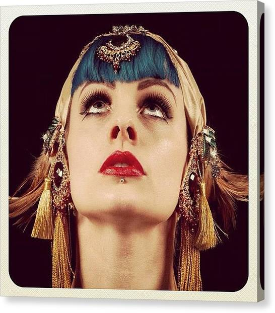 Shoulders Canvas Print - Shot Of The Serpentine Seductress  by Talulah Blue