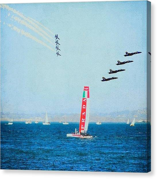 Jets Canvas Print - Shot This At The Port by Karen Winokan