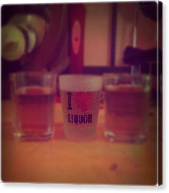 Whiskey Canvas Print - Shotsshotsshots.... #followme by Jenni Pixl