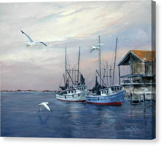 Shrimp Boats At Joe Patti's Canvas Print