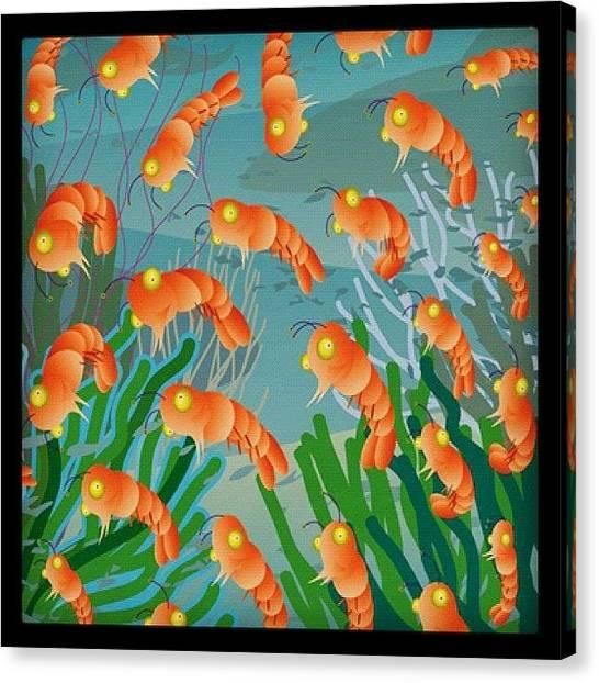 Seafood Canvas Print - Shrimp by Gary Krejca
