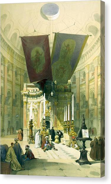 Shrine Of The Holy Sepulchre April 10th 1839 Canvas Print