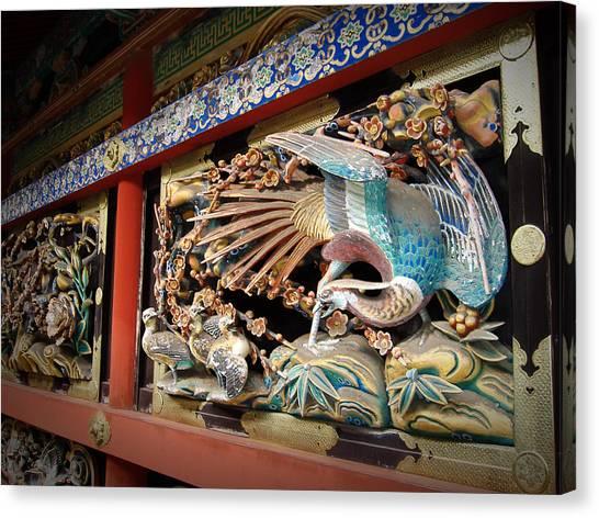 Golden Temple Canvas Print - Shrine Wall Ornament by Naxart Studio